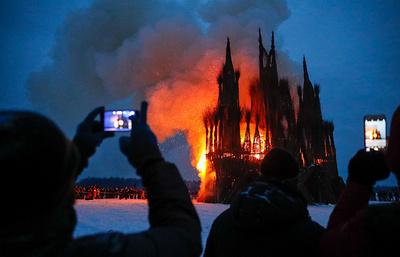 Омбудсмен не увидел экстремизма в сожжении в Калужской области «собора» из веток