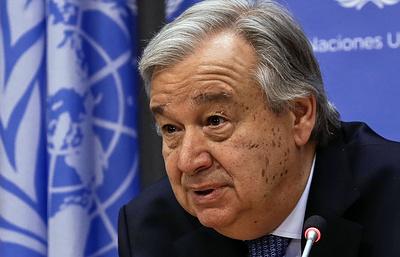 Генсек ООН призвал РФ, Иран и Турцию добиться прекращения огня в Восточной Гуте