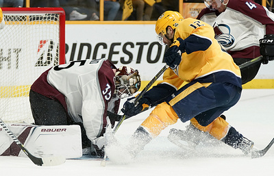 """Колорадо"" одержал победу над ""Нэшвиллом"" в плей-офф НХЛ, Хаммонд отразил 44 броска"
