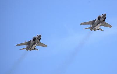 """Эскадрилья МиГ-31К с """"Кинжалами"""" в начале июля провела учения с Дальней авиацией"""