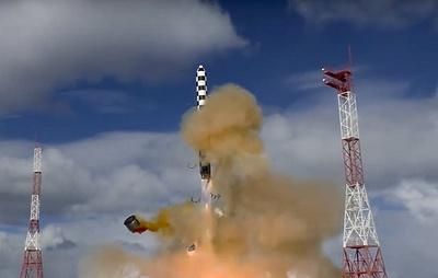 """В Минобороны сообщили о завершении бросковых испытаний ракеты """"Сармат"""""""