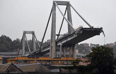 Около 30 человек погибли в результате обрушения моста в Италии