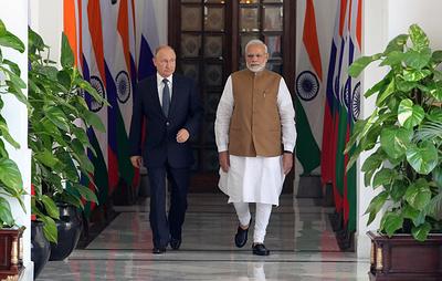 Путин и Моди начали переговоры в Хайдарабадском дворце в Нью-Дели