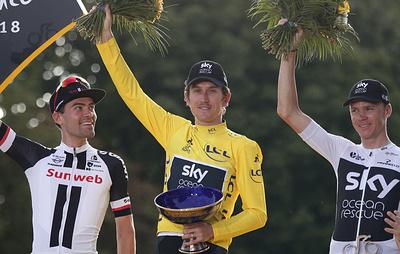 """Британская велокоманда Sky объявила о краже трофея """"Тур де Франс"""""""