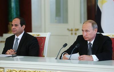 Совместное заявление Путина и ас-Сиси в Сочи. Видеотрансляция