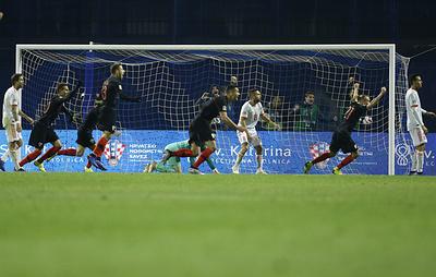 Хорватские футболисты на последней минуте вырвали победу в матче Лиги наций с испанцами