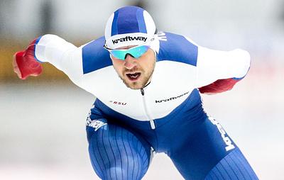 Российский конькобежец Юсков завоевал золото этапа Кубка мира в Японии на дистанции 1500 м