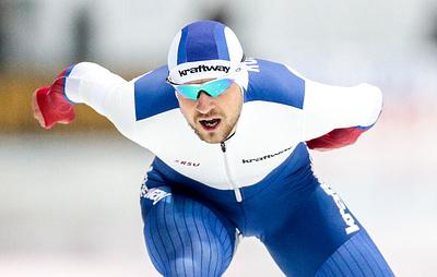 Юсков стал первым на дистанции 1500 м на этапе Кубка мира по конькобежному спорту в Польше