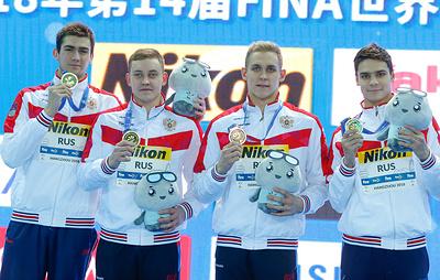 Российские пловцы заняли второе место в общекомандном зачете на ЧМ в Китае