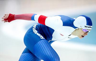 Шихова завоевала бронзу на дистанции 1000 м на этапе Кубка мира по конькобежному спорту