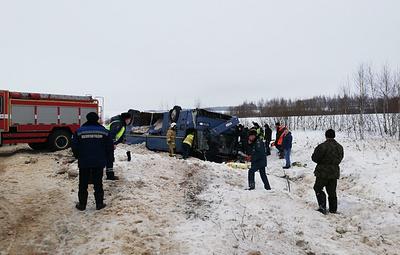 Два человека погибли в результате опрокидывания автобуса под Калугой