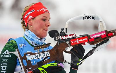 Немецкая биатлонистка Херрман выиграла гонку преследования на этапе КМ в США