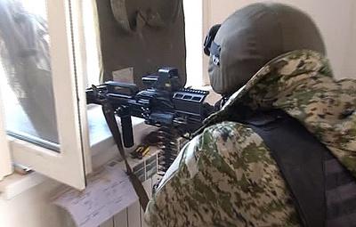 В Дагестане блокирован дом с боевиками, которые открыли стрельбу по силовикам