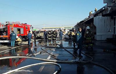 На одном из рынков в Нальчике произошел пожар