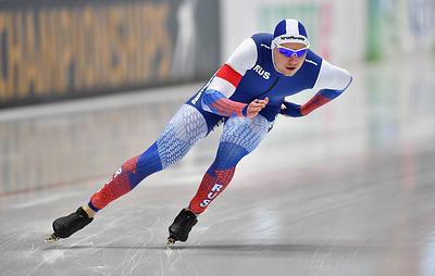 Конькобежец Кулижников идет первым после двух дистанций на ЧМ в спринтерском многоборье
