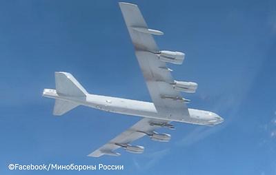 Минобороны опубликовало видео сопровождения бомбардировщика ВВС США над Балтикой