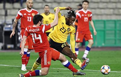 Джикия: сборная России по футболу сама виновата в поражении от бельгийцев