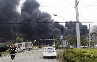 Число жертв взрыва на химзаводе в Китае возросло до 44