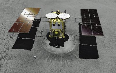 """Японский зонд """"Хаябуса-2"""" успешно создал искусственный кратер на астероиде Рюгу"""
