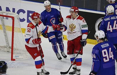 Олимпийская сборная России по хоккею победила команду Франции в матче Еврочелленджа