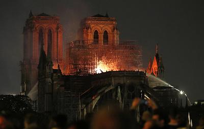 СМИ: спасенные произведения искусства Нотр-Дама находятся в мэрии Парижа