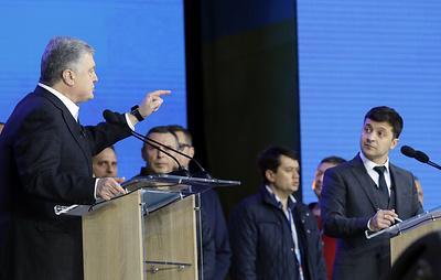 Дебаты Петра Порошенко и Владимира Зеленского. Прямая трансляция
