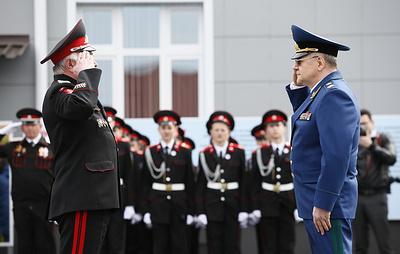 Казачий кадетский корпус открыли в станице Бриньковская на Кубани после реконструкции
