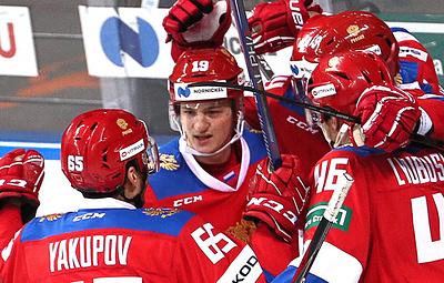 Сборная России по хоккею одержала волевую победу над латвийцами в матче Еврочелленджа