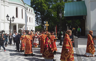 Патриарх Кирилл освятил собор Всех Святых в Страсбурге