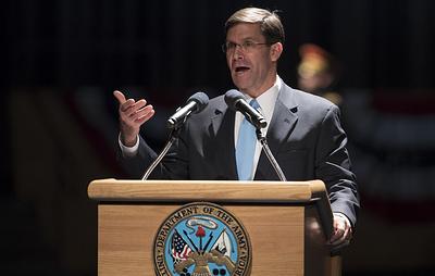 Трамп заявил, что назначит министра армии США Марка Эспера новым и.о. главы Пентагона