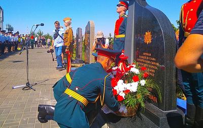 Памятник защищавшим Сталинград воинам-чеченцам открыли на Мамаевом кургане