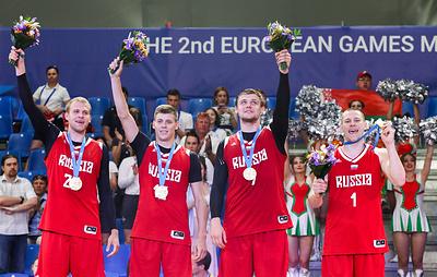 Мужская сборная России по баскетболу 3х3 завоевала золото Европейских игр