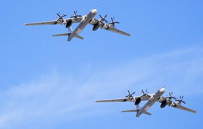 Два Ту-95МС выполнили полет над акваториями Баренцева и Норвежского морей