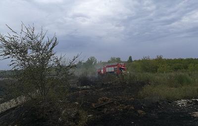 В Самаре ликвидировали пожар на мазутном озере