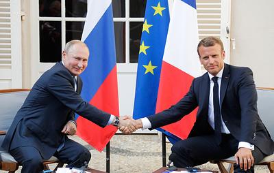 Путин: РФ и Франция могут вместе сделать больше при нормализации отношений России и ЕС