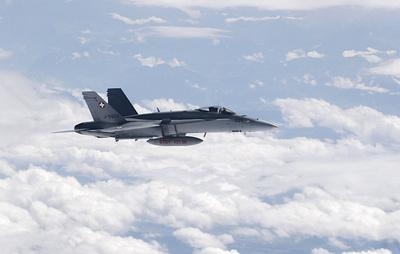 В ВВС Швейцарии назвали стандартной процедурой сопровождение самолета с делегацией Путина
