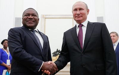 Путин отметил хорошие перспективы развития торгово-экономических связей России и Мозамбика