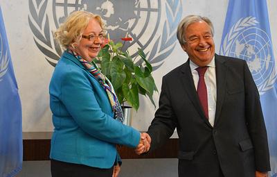 Россиянка Татьяна Валовая вступила в должность главы отделения ООН в Женеве