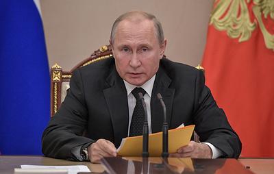 Путин: Россия не будет втягиваться в гонку вооружений