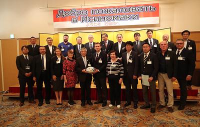 Гордость и уважение. Японский Исиномаки приветствовал делегацию Федерации регби России