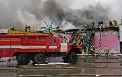 В дисконт-центре Нижневартовска произошел пожар площадью 300 кв. м