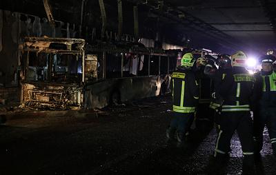 Короткое замыкание привело к возгоранию автобуса в Алабяно-Балтийском тоннеле в Москве