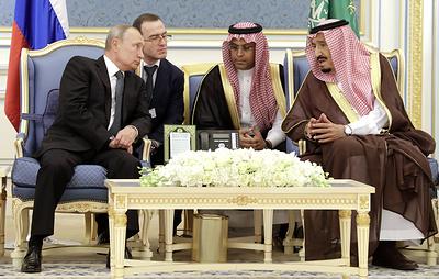 Путин прибыл в Эр-Рияд
