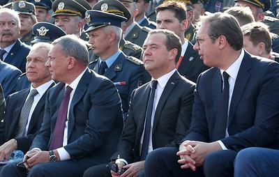 Президент Сербии поблагодарил Россию за помощь в военной сфере