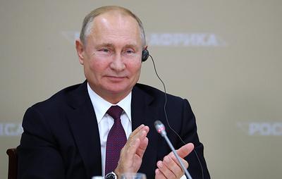 Путин проводит торжественный прием в честь участников саммита Россия - Африка. Трансляция