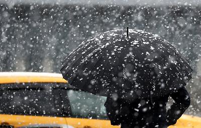 Мокрый снег и гололедица ожидаются ночью в Москве