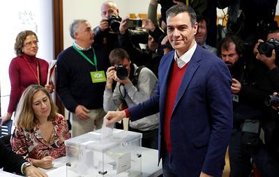 Соцпартия и.о. премьера Испании лидирует на всеобщих выборах после обработки 50% голосов