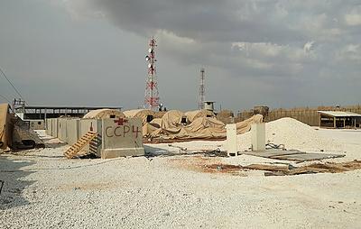 Появилось видео высадки российских военных на аэродром в Сирии, где находилась база США