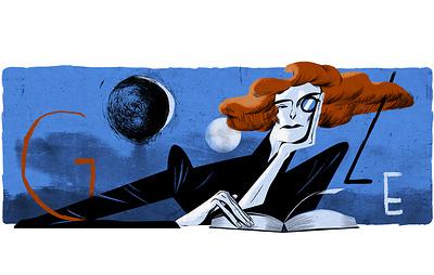 Google выпустил дудл к 150-летию со дня рождения Зинаиды Гиппиус