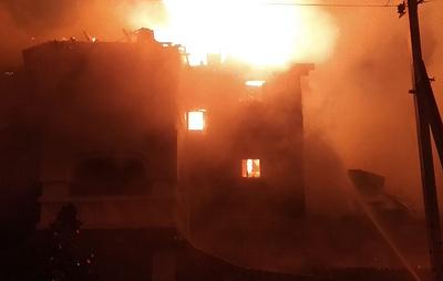 Появилось видео пожара в гостинице в Одинцово